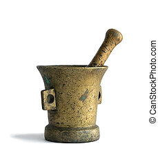 Mortar with a pestle