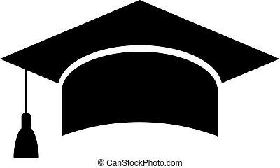 Mortarboard academic cap, education icon