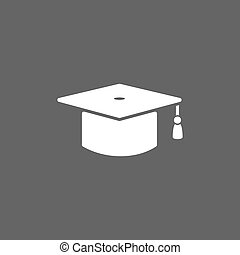 Mortarboard icon on a dark background