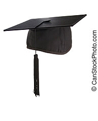 Mortarboard - Mortar board isolated with clipping path -...