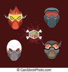 mortel, paintball, mask.