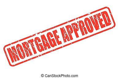 MORTGAGE APPROVED red stamp text