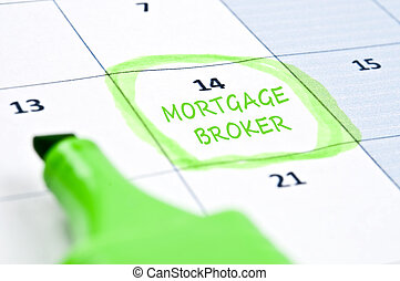 Mortgage broker mark - Calendar mark with Mortgage broker