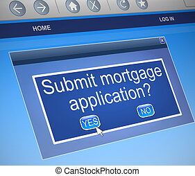 Mortgage concept. - Illustration depicting a computer screen...