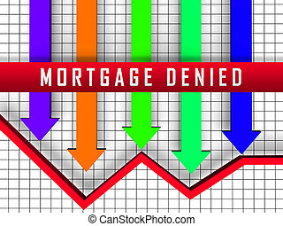 Mortgage Denied Arrow Demonstrates Property Purchase Loan ...