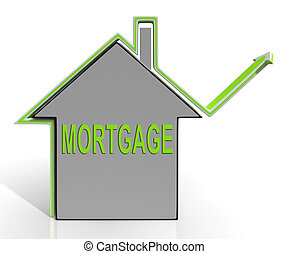 Mortgage House Means Repayments On Property Loan - Mortgage...