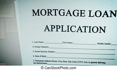 """Mortgage Loan Application Form Concept."" - ""Animation video..."