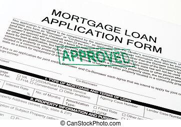 Mortgage loan application form