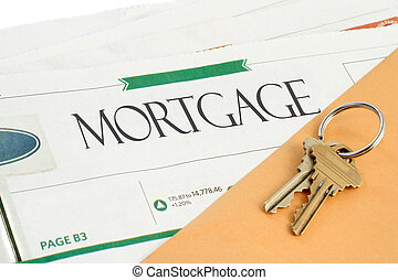 mortgage news - conceptual mortgage section of the newspaper...