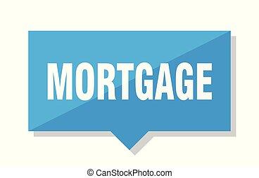 mortgage price tag - mortgage blue square price tag