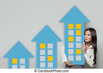 Mortgage, property investment and construction concept....