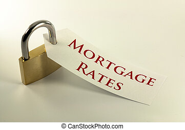 Mortgage rates locked down / fixed concept