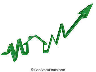 Mortgage Rates Up - A conceptual illustration on house...