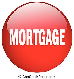 mortgage red round gel isolated push button