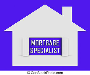 Mortgage Specialist Or Expert Icon Meaning Property Purchase...