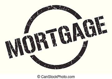 mortgage stamp - mortgage black round stamp