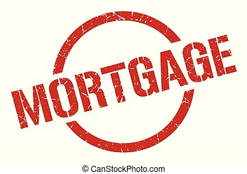 mortgage stamp - mortgage red round stamp