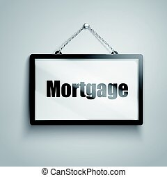 mortgage text sign