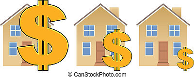 Mortgage Value - Three residential property with their...