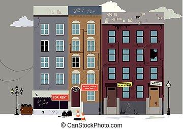 mortier, brique, fin, magasin