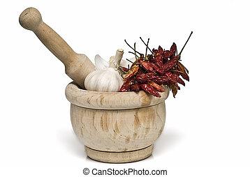 mortier, spices., pilon
