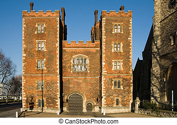 morton\'s, wieża, gatehouse, -, lambeth, pałac