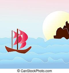 morze, łódka
