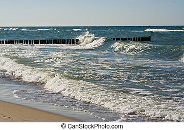 morze, fale