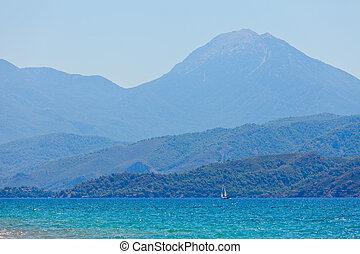 morze, góry