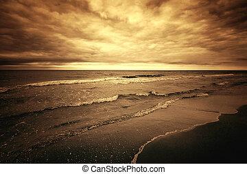 morze, ocean.