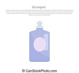 mosópor, mosoda, palack, folyékony, műanyag