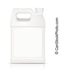 mosópor, tiszta, palack, műanyag