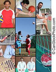 mosaïque, de, divers, sports