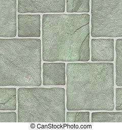 mosaïque, vert, marble-stone