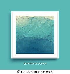 mosaic., カバー, surface., 水, バックグラウンド。, 波状, 格子, デザイン, template.