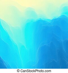 mosaic., 波状, illustration., 抽象的, surface., 水, バックグラウンド。, ベクトル, 格子, texture., 3d