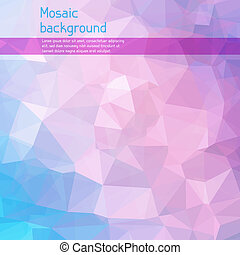 Mosaic abstract background with triangles.