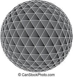3D Mosaic background illustration op art colours black