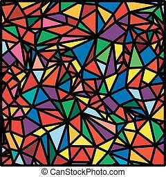 Mosaic Abstract Pattern