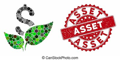Mosaic Agriculture Startup with Distress Asset Stamp