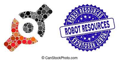 Mosaic Artificial Joint Icon with Distress Robot Resources ...