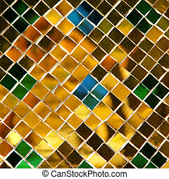 mosaic background made of golden pieces