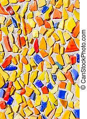 Mosaic background of broken glass