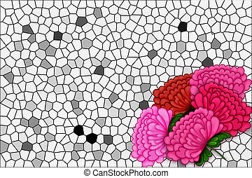 mosaic background with a flowers
