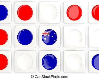 Mosaic background with flag of australia