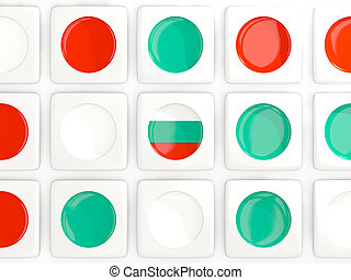 Mosaic background with flag of bulgaria