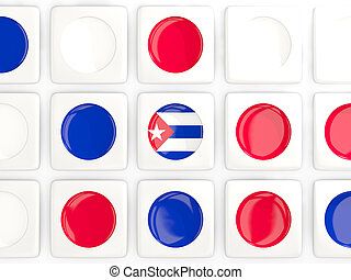 Mosaic background with flag of cuba