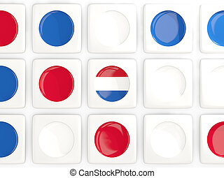 Mosaic background with flag of netherlands