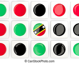Mosaic background with flag of saint kitts and nevis