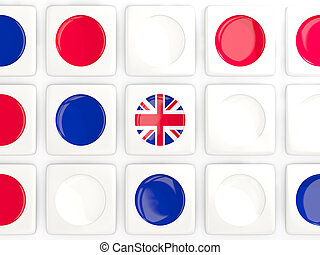 Mosaic background with flag of united kingdom